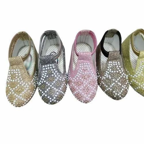 Girl Slip On Party Wear Sandals, Size