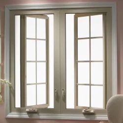 Cream Aluminium Section Window