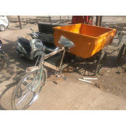 MS & FRP Garbage Container Rickshaw