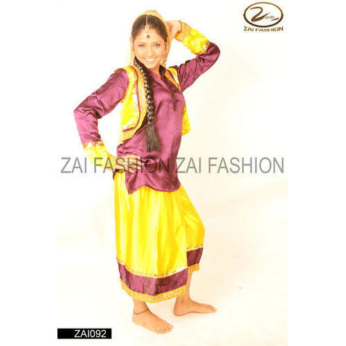 a0408a2de Yellow And Red Bhangra Traditional Costume, Rs 3000 /piece | ID ...