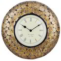 Pushpam Arts Brass Coin Clock, For Home & Office, Size: 12 X 6