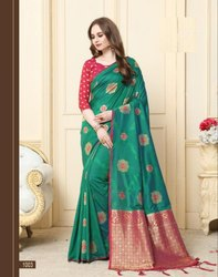 Exclusive Festive Wear  Cotton Silk Weaving Saree With Blouse Piece