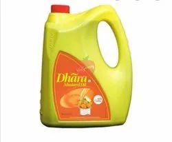 Yellow Expeller Dhara Mustard Oil, Packaging Size: 5 litre