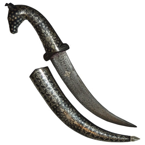 Iron Horse Dagger With Inlay Work