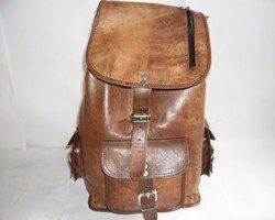 Genuine Leather Rucksack Backpack