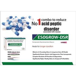 Esogrow -DSR Allopathic Esomeprazole Sodium and Domperidone Capsules, 10 X 10 Capsules, Packaging Type: Box