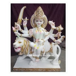 Handmade Marble Durga Mata