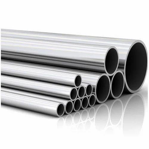 Silver Round Stainless Steel Pipe, Rs 135 /kilogram Kanak Steels | ID:  19354509788
