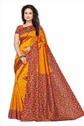 Kalamkari Silk Party Wear Sarees, Length: 6.2 metre