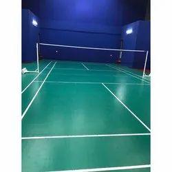 Green Polished Sports Vinyl Flooring, Thickness: 4.5 Mm,10 Mm