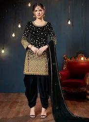 Pearls Work Patiala Suits