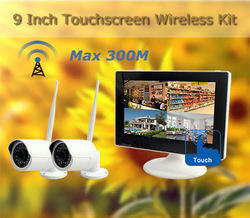 Digital Touchscreen Monitor Long Range Wireless Camera Kit