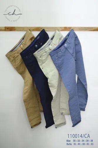 4 Colours Ankle Fit Men' s Cotton Trouser