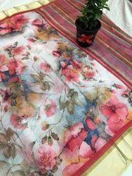 Floral Printed Kota Silk Saree