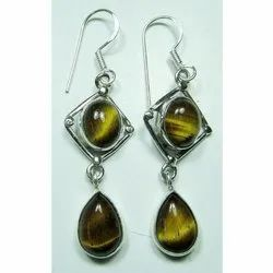 Tiger Eye 925 Sterling Silver Earrings