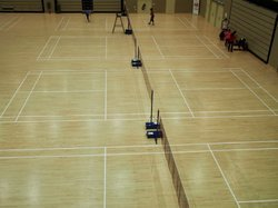 WOODEN BADMINTON COURT