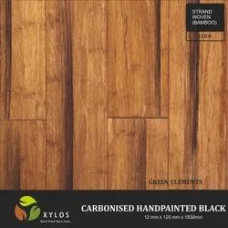 Carbonised Hand Painted Black Bamboo Flooring