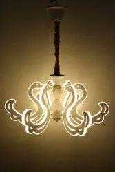 Pradhuman Stainless Steel,Glass Ceiling Hanging Lamp, For Decoration, 12 Watt