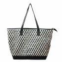 Black Leather 3D Weaving Handbags