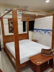 Single Teak Wooden Cot Bed