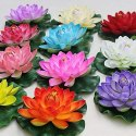 Artificial Decoration Plastic Flower Floating Lotus, Packaging Type: Cartoon Box