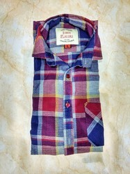 Cotton Check Casual Shirts, Size: S-L