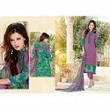 Cotton Multicolor Ladies Unstitched Suit