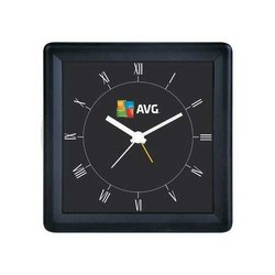 Plastic Promotional Black Wall Clock, Packaging Type: Box
