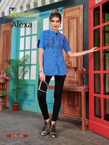 Karissa Alexa Designer Fancy Short Tops