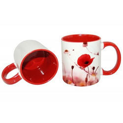 11oz Inner Rim Red Color Mug