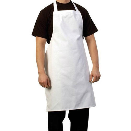 White Cotton Food Court Plain Full Apron