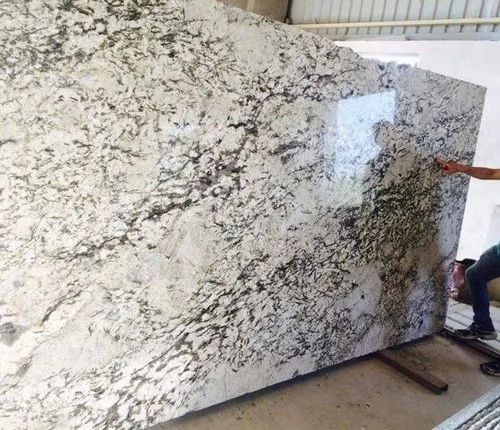 Flooring Polished Alaska White Granite, Thickness: 15-20 mm