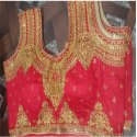 Red Bridal Embroidered Blouse