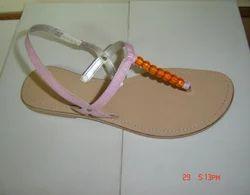 Women Leather Ladies Latest Fashion Flat Slipper