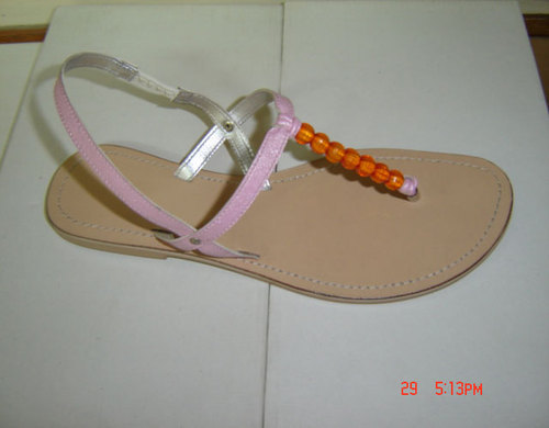 Women Leather Ladies Latest Fashion Flat Slipper