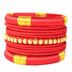 Indian Handcraft Fashion Natural Marquise Silk Thread Bangle