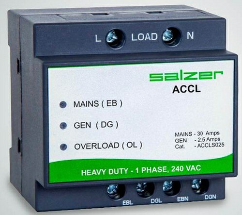 SALZER MAKE ACCL Automatic Changeover with Current Limit