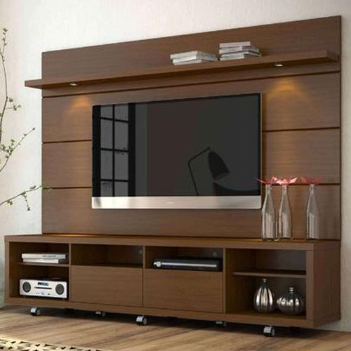 Living Room Cabinet Design In India: Brown Plywood Stylish Wooden TV Cabinet, Rs 12000 /unit