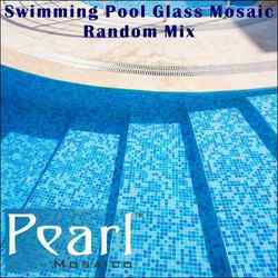 Swimming Pool Glass Mosaic Random Mix Tiles, Thickness: 0-5 mm