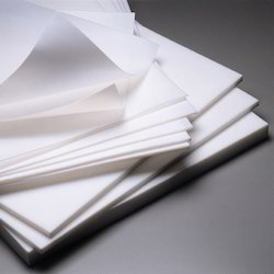 White PTFE Skived Sheets, 1-2 mm