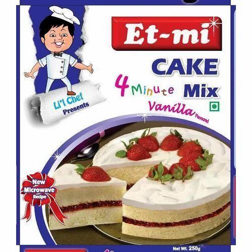 Et-mi Egg Less Vanilla Instant Cake Mix, for Bakery