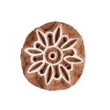 Flower Pattern Cylindrical Shape Wooden Henna Printing