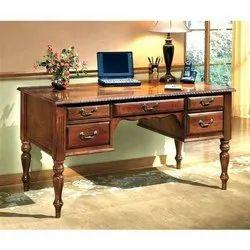 Star Teakwood Designer Wooden Table, Size: 4x2.6 Feet