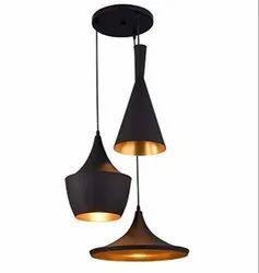Light Industrial Black Finish Metal Shade Hanging Pendant Ceiling Lamp Fixture Tulip Cone Disc