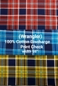 Cotton Discharge Print Check (wrangler)