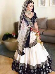 Semi-Stitched Malbari Silk Lehenga