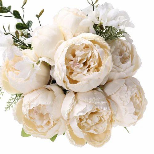 White Silk Flower Bouquets