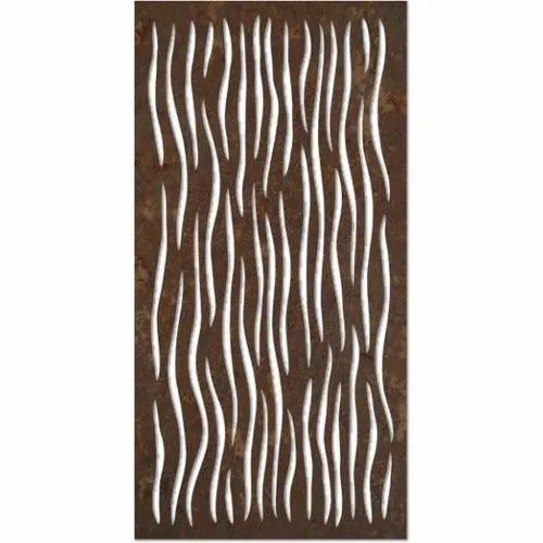 Brown MDF Laser Cut Decorative Wall Panel