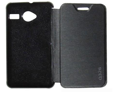 official photos 1f73f c00f4 Flip Cover For Micromax Bolt Q326 Black