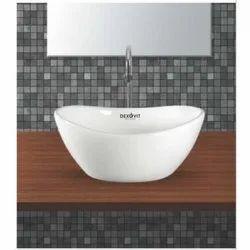 Dexovit Ceramic Omega Table Top Wash Basin, 420x380x160mm